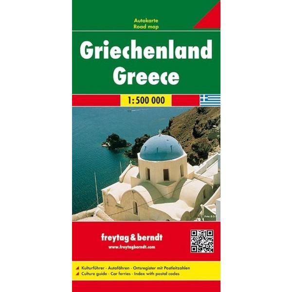 Griechenland, Autokarte 1:500.000 - Straßenkarte