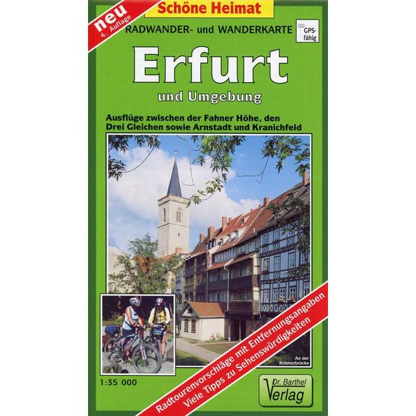 Erfurt und Umgebung 1 : 35 000. Radwander- und Wanderkarte - Wanderkarte