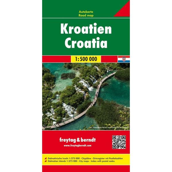 Kroatien 1 : 500 000. Autokarte - Straßenkarte