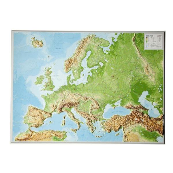 Reliefkarte Europa Gross 1 : 8 000 000 - Karte
