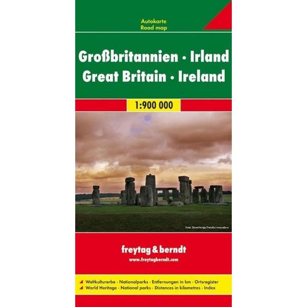 Großbritannien Irland 1 : 900 000. Autokarte