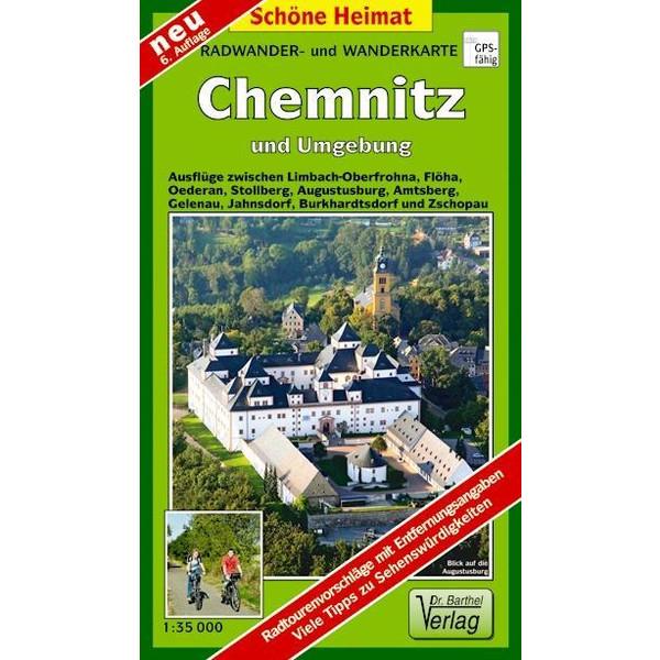 Radwander- und Wanderkarte Chemnitz und Umgebung ^1 : 35 000