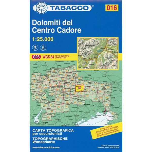 Tabacco Wandern 1 : 25 000 Dolomiti del Centro Cadore - Wanderkarte