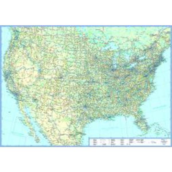 USA 1 : 5 000 000 Übersichtskarte Plano - Poster