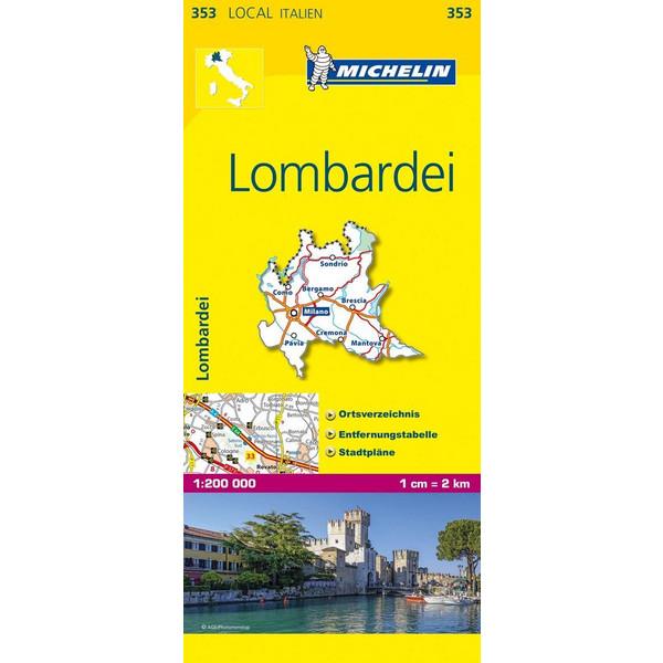 Michelin Lokalkarte Lombardei 1 : 200 000 - Straßenkarte
