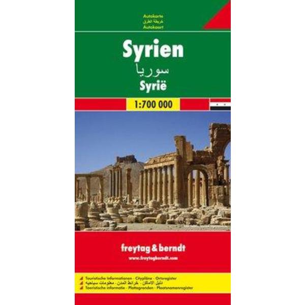 Syrien, Autokarte 1:700.000 - Straßenkarte