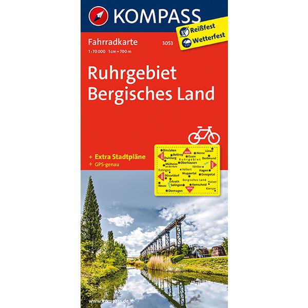 KORA-3053 RUHRGEBIET-BERG. LAND 1:70T - Fahrradkarte