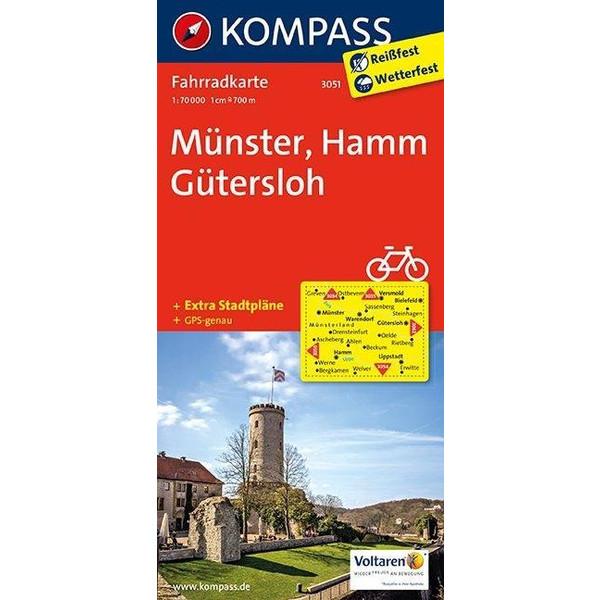 Münster - Hamm - Gütersloh 1 : 70 000 - Fahrradkarte