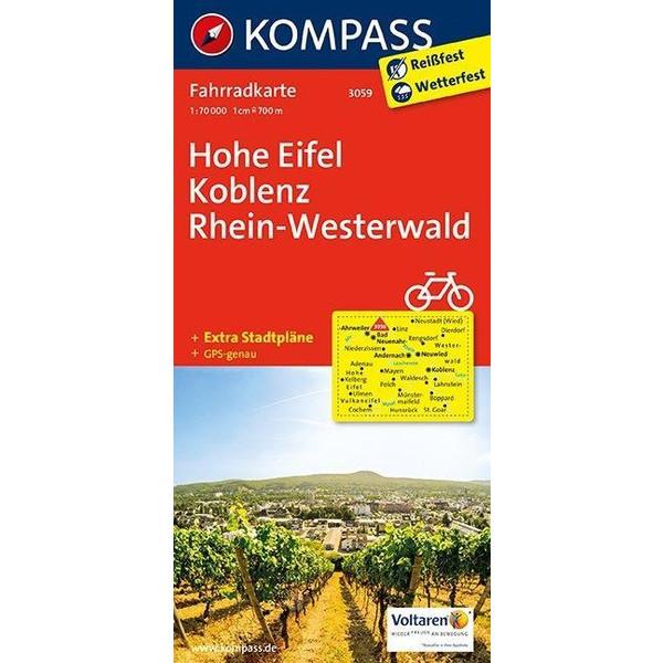 Hohe Eifel - Koblenz - Rhein-Westerwald 1 : 70 000 - Fahrradkarte