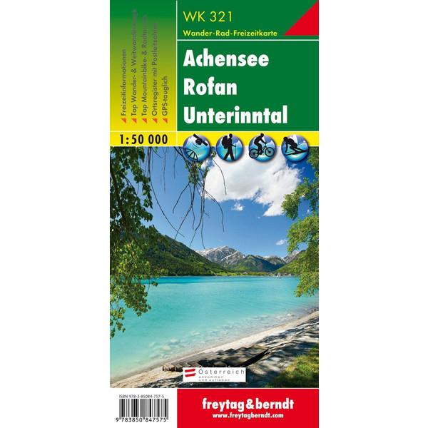 Achensee, Rofan, Unterinntal 1 : 50 000 - Wanderkarte