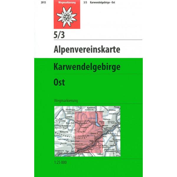 DAV Alpenvereinskarte 05/3 Karwendelgebirge Ost 1 : 25 000 - Wanderkarte