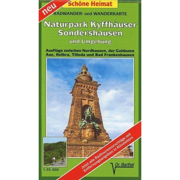 Naturpark Kyffhäuser, Sondershausen und Umgebung 1 : 35 000. Radwander-und Wanderkarte - Wanderkarte