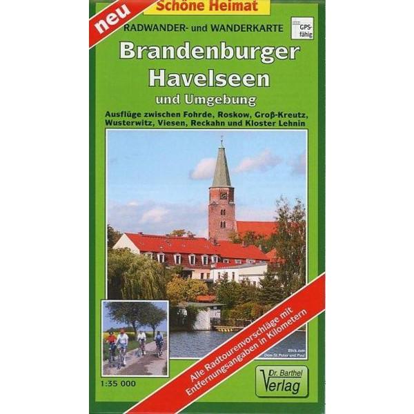 Brandenburger Havelseen und Umgebung 1 : 35 000. Radwander- und Wanderkarte - Wanderkarte