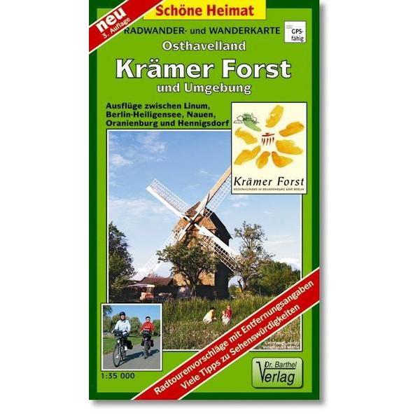 Krämer Forst  und Umgebung 1 : 35 000. Radwander- und Wanderkarte - Wanderkarte