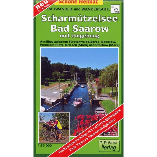 Radwander- und Wanderkarte Scharmützelsee, Bad Saarow und Umgebung 1 : 35 000 - Wanderkarte