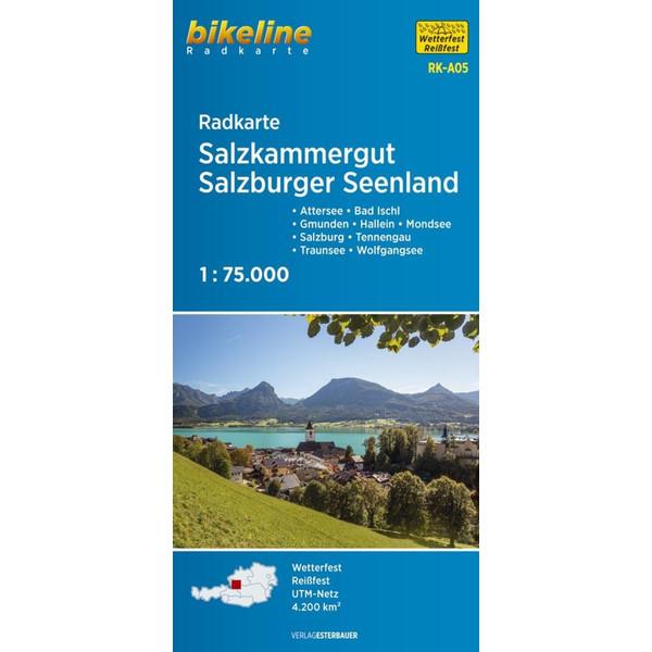 Bikeline Radkarte Österreich Salzkammergut/Salzb.Seen 1 : 75. 000 (RK-A05) - Fahrradkarte