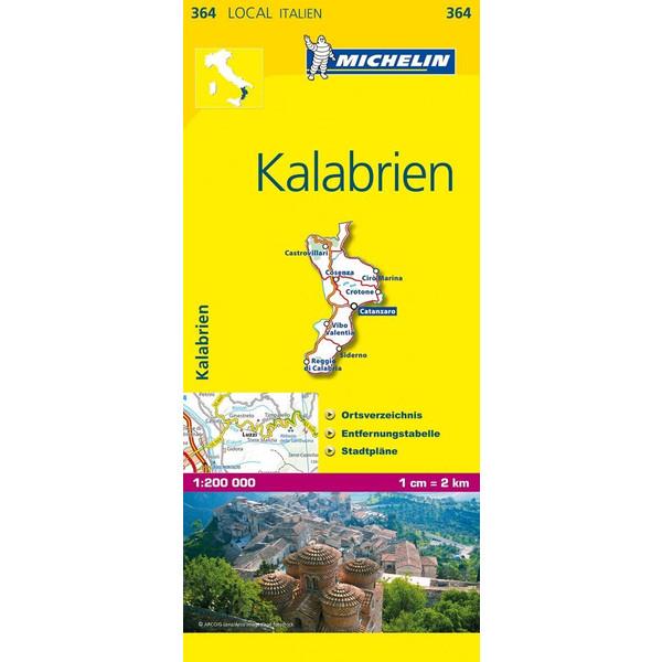 Kalabrien 1 : 200 000 - Straßenkarte