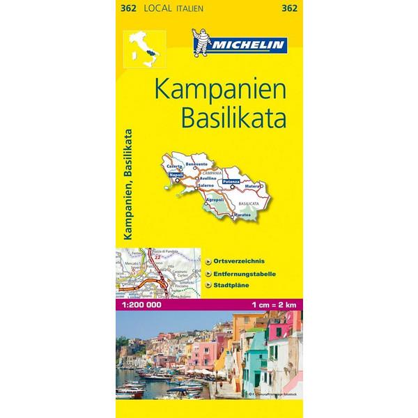 Michelin Lokalkarte Kampanien - Basilikata 1 : 200 000 - Straßenkarte
