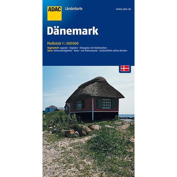 ADAC LänderKarte Dänemark 1 : 300 000 - Straßenkarte