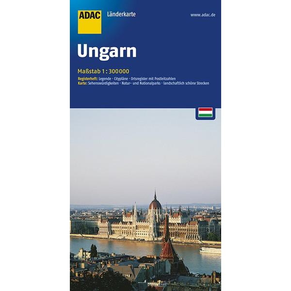 ADAC LänderKarte Ungarn 1 : 300 000 - Straßenkarte