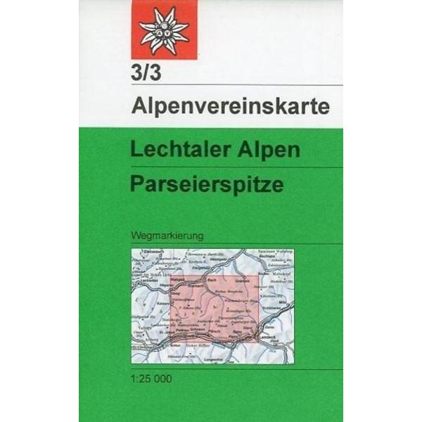 DAV Alpenvereinskarte 03/3 Lechtaler Alpen - Parseierspitze 1 : 25 000 - Wanderkarte
