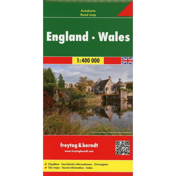 England Wales 1 : 400 000. Autokarte - Straßenkarte