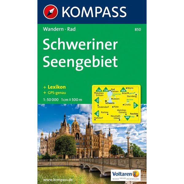 KOKA-850 SCHWERINER SEENGEBIET - Wanderkarte