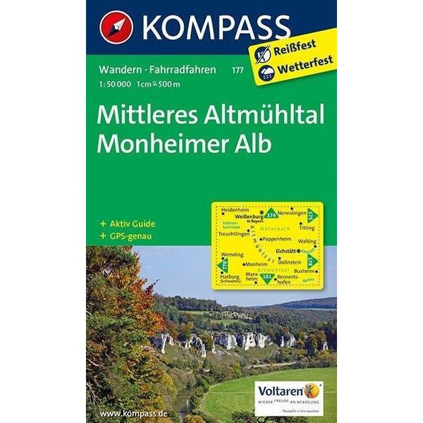 Mittleres Altmühltal / Monheimer Alb 1 : 50 000 - Wanderkarte