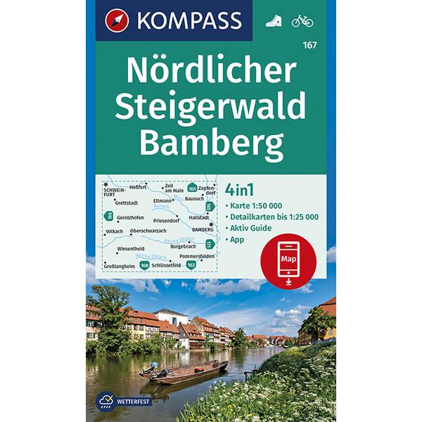 Nördlicher Steigerwald / Bamberg 1 : 50 000 - Wanderkarte