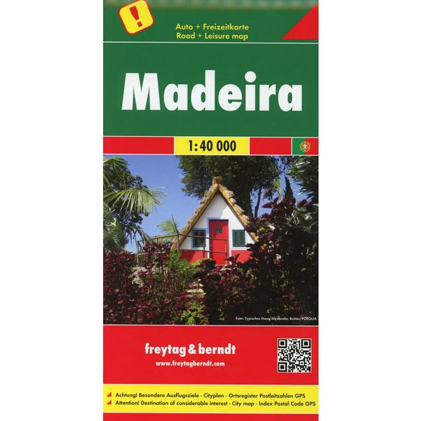 Madeira, Autokarte 1:40.000 - Straßenkarte