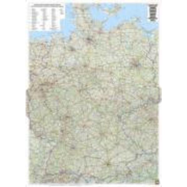Deutschland 1 : 700 000 physisch - Poster