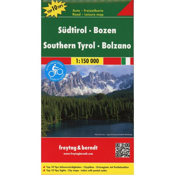 Südtirol, Bozen 1 : 150 000 - Straßenkarte