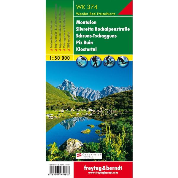 Montafon, Silvretta Hochalpenstrasse, Schrun-Tschagguns, Piz Buin, Klostertal 1 : 50 000 - Wanderkarte