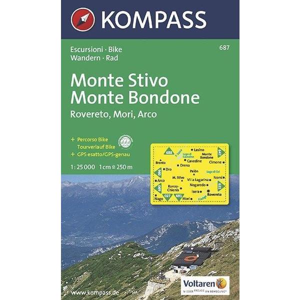 Monte Stivo - Bondone - Rovereto - Mori - Arco 1 : 25 000 - Wanderkarte