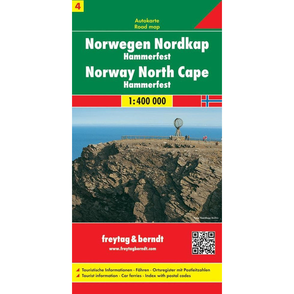 FuB Norwegen 04. Nordkap / Hammerfest 1 : 400 000. Autokarte - Straßenkarte