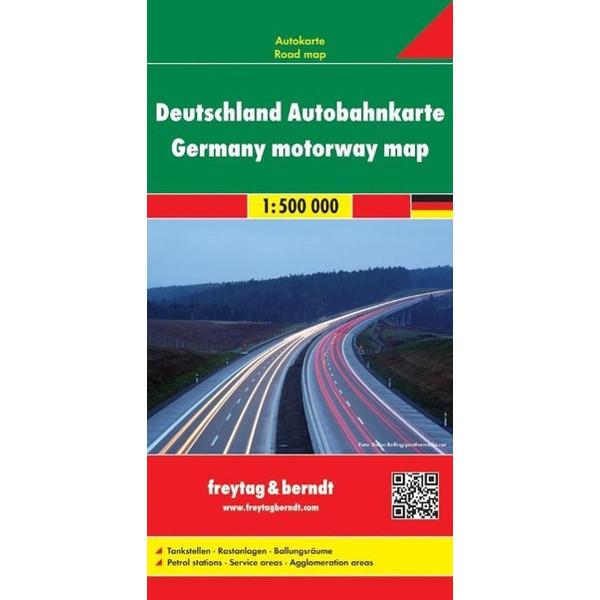 Deutschland Autobahnkarte 1 : 500 000 - Straßenkarte
