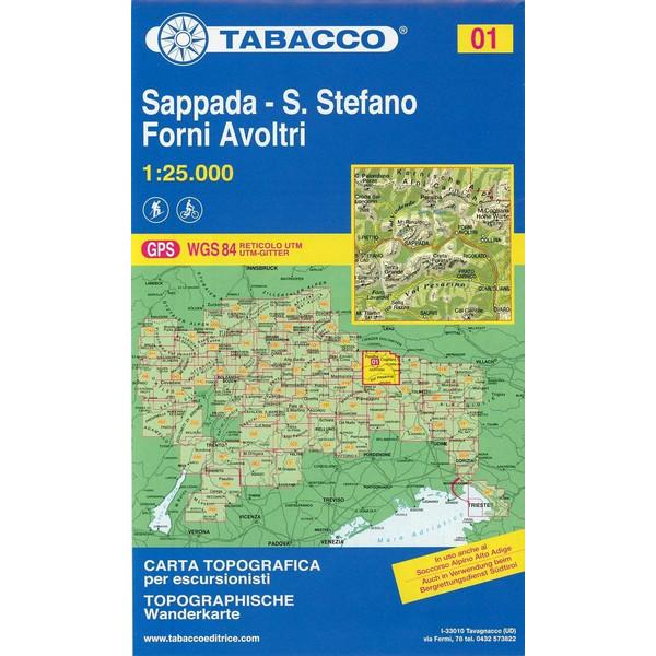 Tabacco Wandern 1 : 25 000 Sappada - San Stefano - Forni Avoltri - Wanderkarte