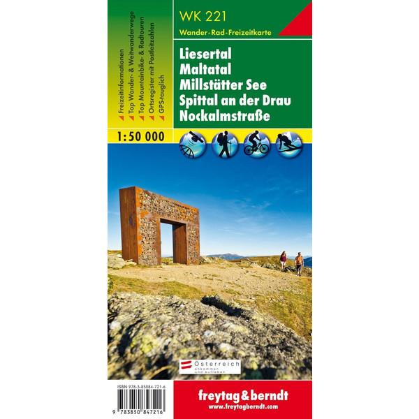 Liesertal, Maltatal, Millstätter See, Spittal an der  Drau, Nockalmstrasse 1 : 50 000 - Wanderkarte