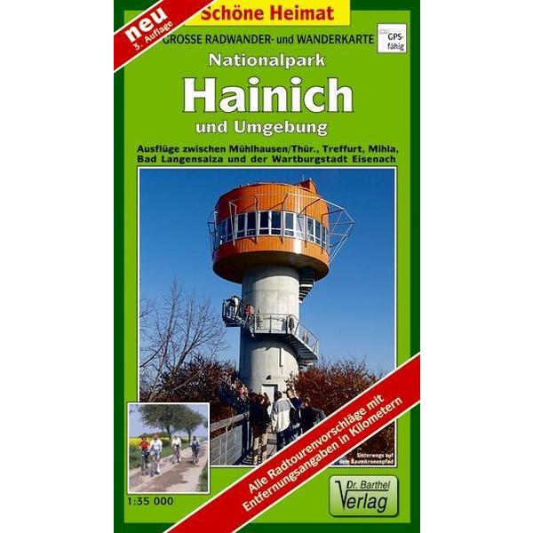 Nationalpark Hainich und Umgebung 1 : 35 000. Wander- und Radwanderkarte - Wanderkarte