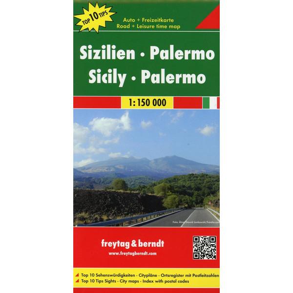 Sizilien - Palermo 1 : 150 000. Auto- und Freizeitkarte - Straßenkarte