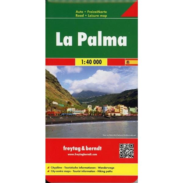 La Palma  1 : 40 000. Auto- und Freizeitkarte - Straßenkarte