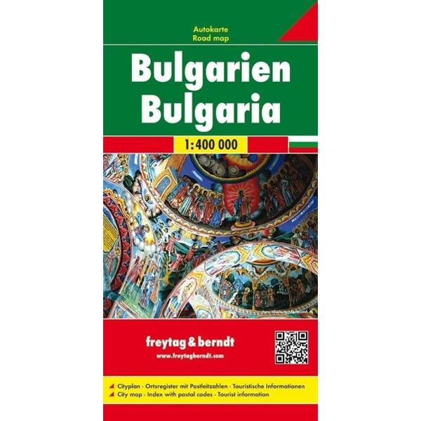 Bulgarien 1 : 400 000. Autokarte - Straßenkarte