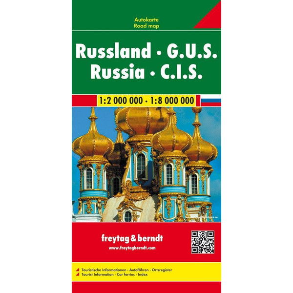 Russland GUS 1 : 2 000 000 / 1 : 8 000 000 - Straßenkarte