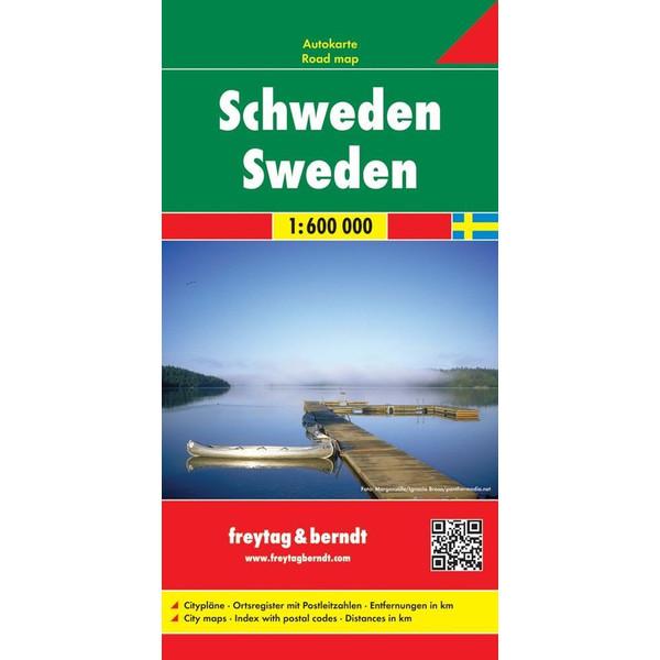 Schweden, Autokarte 1:600.000 - Straßenkarte