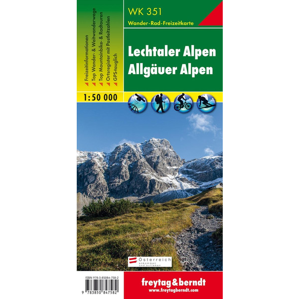 Lechtaler, Allgäuer Alpen 1 : 50 000 - Wanderkarte
