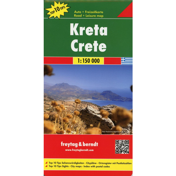 Kreta, Top 10 Tips, Autokarte 1:150.00 - Straßenkarte