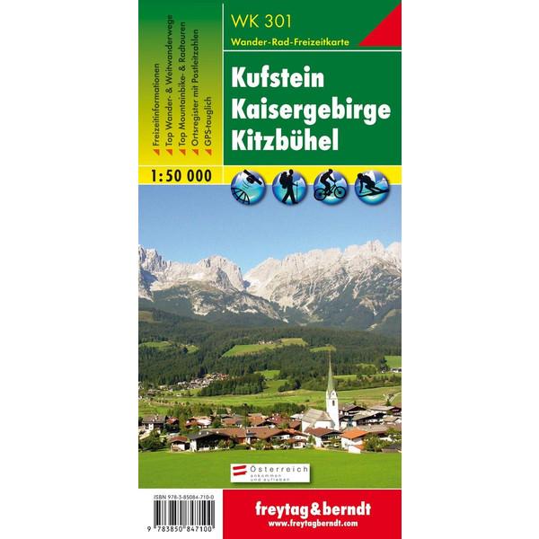 Kufstein, Kaisergebirge, Kitzbühel 1 : 50 000. WK 301 - Wanderkarte