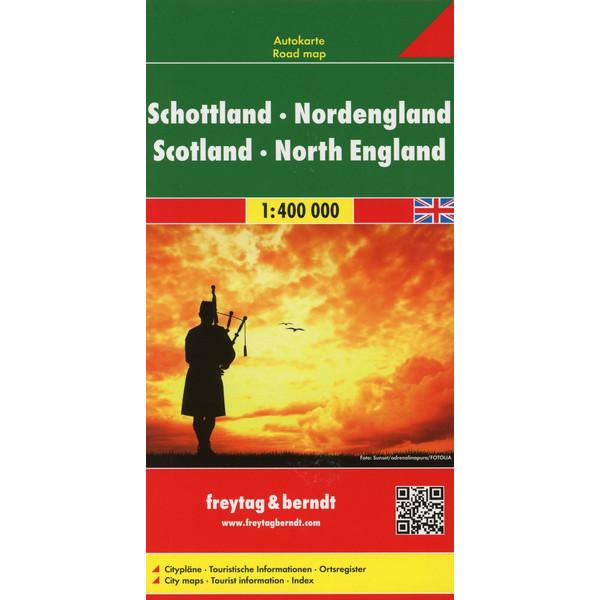 Schottland, Nordengland 1 : 400 000. Autokarte - Straßenkarte