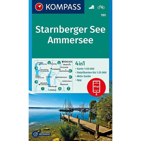 KOKA 180 STARNBERGER SEE, AMMERSEE - Wanderkarte