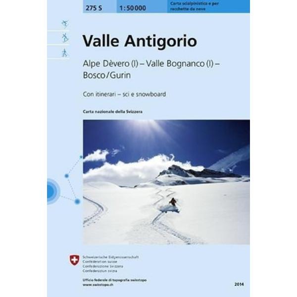 Swisstopo 1 : 50 000 Valle Antigorio Skiroutenkarte - Wanderkarte